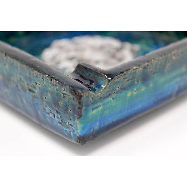 Ceramic 1960s Bitossi Ceramic Blue Ashtray For Sale - Image 7 of 10