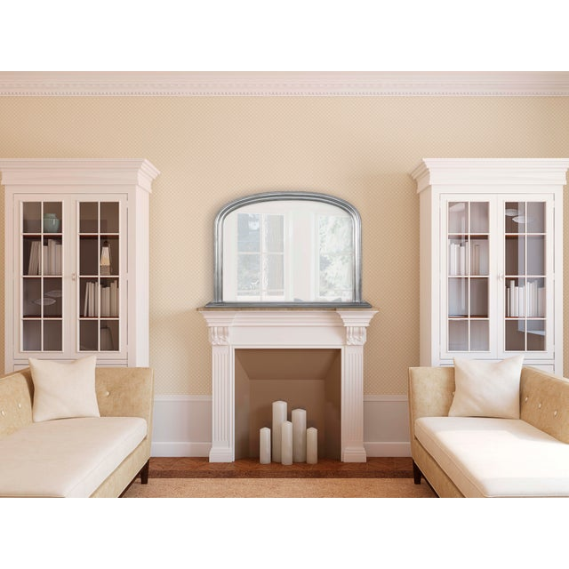 Classic, simple and elegant, this solid wood frame arched mirror is in a beautiful silver finish. The beveled wood...