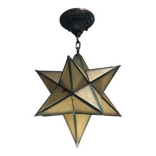 Vintage Moravian Star Chandelier For Sale