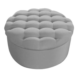 "Custom to Order ""Texture in Linen"" Collection Ottoman"