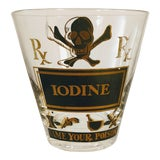 Image of Georges Briard Pick Your Poison Iodine Glass Tumbler Cocktail For Sale