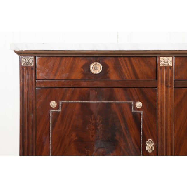 Vintage French Louis XVI Style Mahogany Enfilade For Sale In Baton Rouge - Image 6 of 12