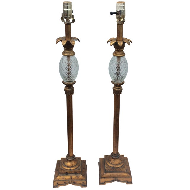 Hollywood Regency Table Lamps - A Pair - Image 1 of 6