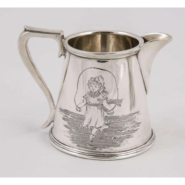 Mid 19th Century Three-Piece Child's Tea Set and Tray For Sale - Image 5 of 11