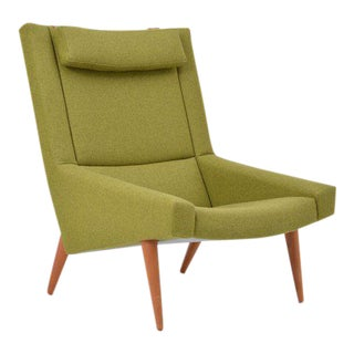 High Back Lounge Chair by Illum Wikkelsø for Soren Willadsen, 1960s For Sale