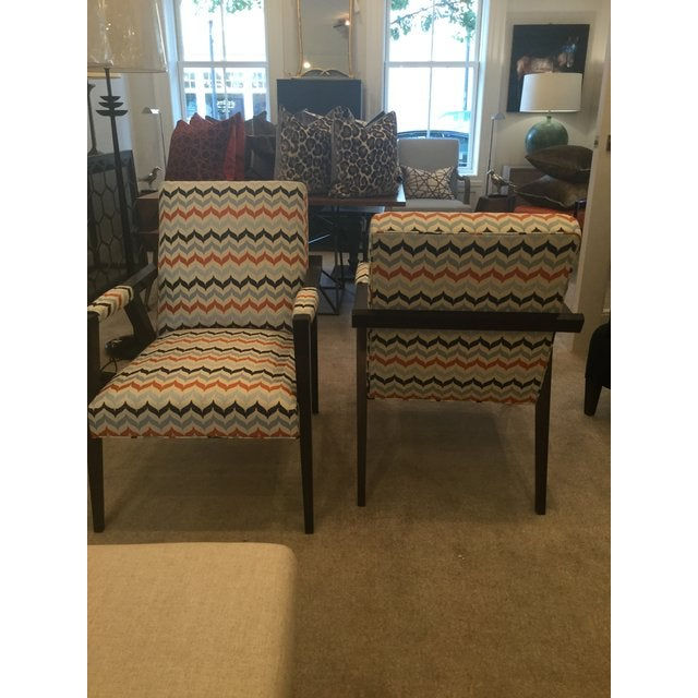 2010s Kravet Mid-Century Modern Tempest Chairs - a Pair For Sale - Image 5 of 8