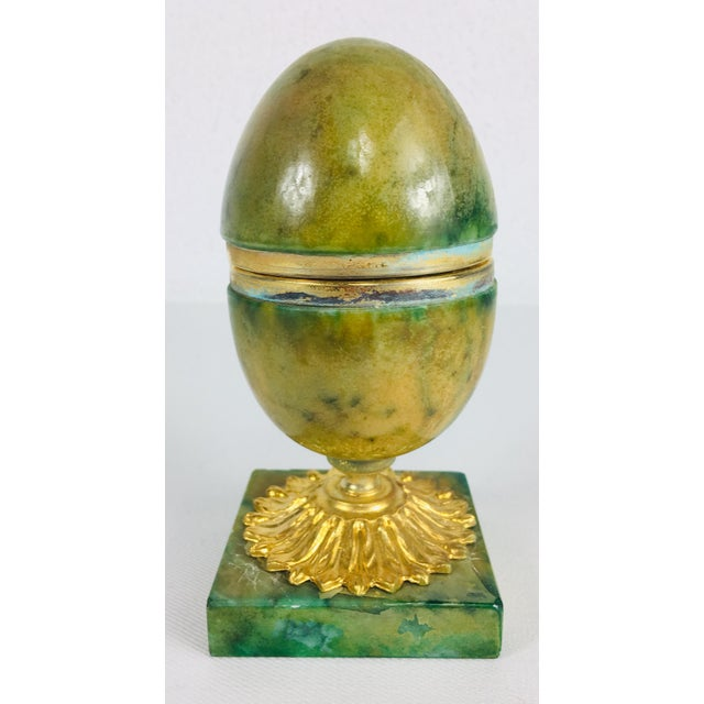 Green 1950s Italian Alabaster Ring Box For Sale - Image 8 of 8