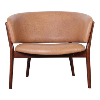 Leather Lounge Chair by Nanna Ditzel For Sale