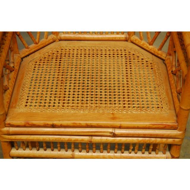 Bamboo Brighton Pavillion Style Armchair - Image 5 of 9