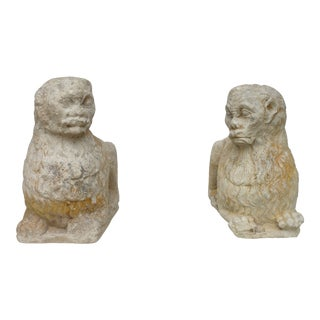 17th Century Carved Stone Lions - a Pair For Sale
