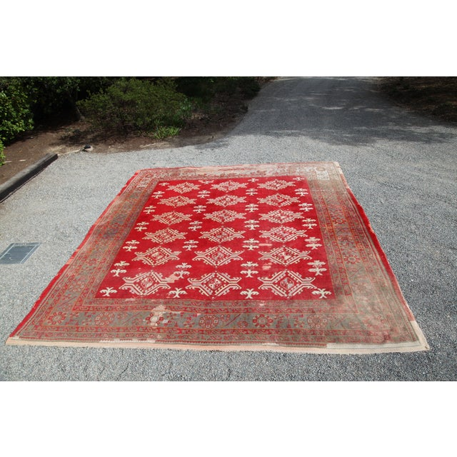 Large Vintage Turkish Wool Rug - 13′ × 14′6″ - Image 2 of 8