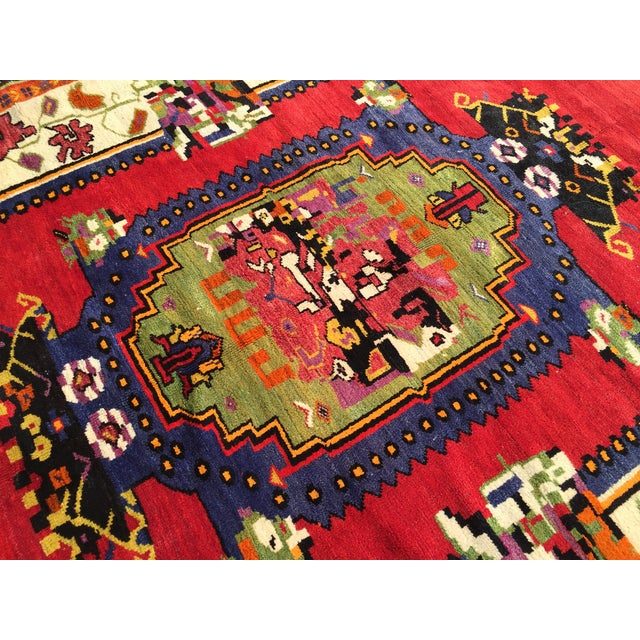 """Vintage Hand Knotted Anatolian Rug - 5'1"""" x 8' - Image 6 of 8"""