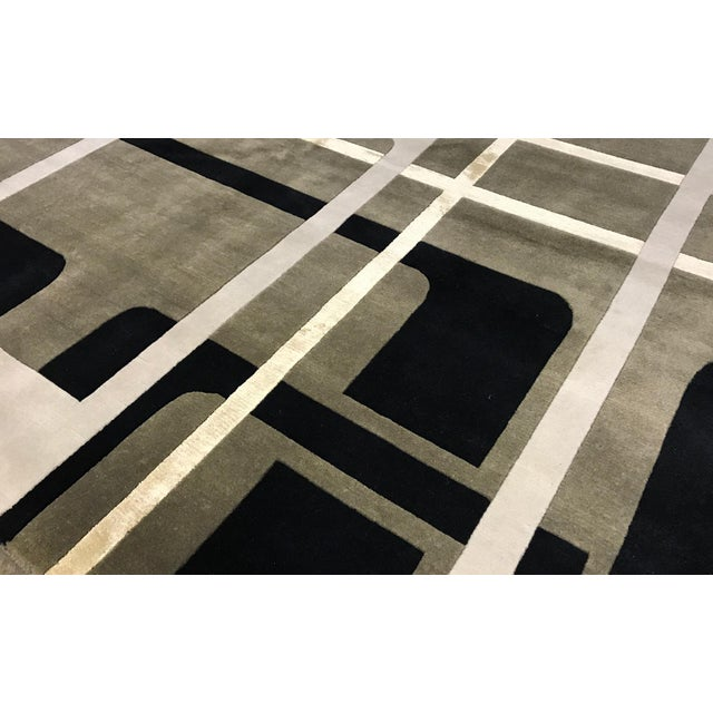 "Contemporary Hand Woven Rug - 6' x 9'3"" - Image 2 of 3"