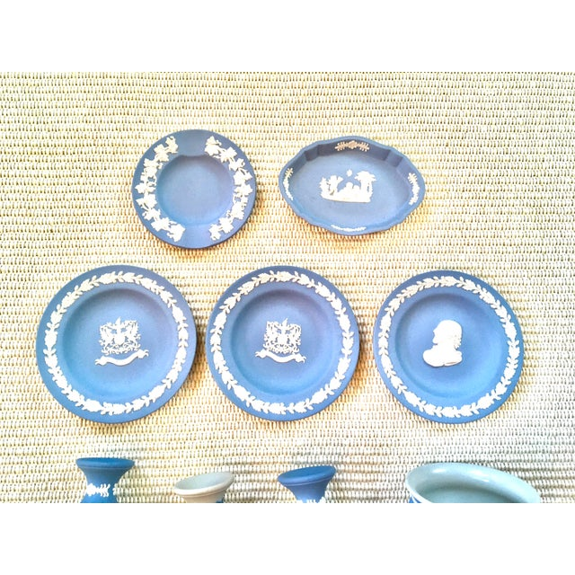Blue Tabletop Collection of Blue Wedgwood Jasperware - Set of 9 For Sale - Image 8 of 9