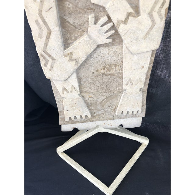 1970s Vintage Inlay Marble Sculpture For Sale - Image 4 of 8