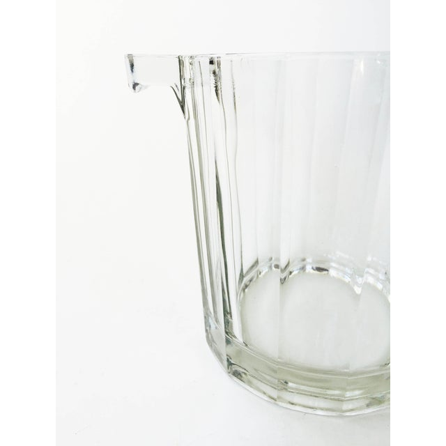 Vintage Faceted Glass Ice Bucket - Image 4 of 4