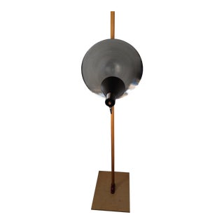 Large Mid-Century Modern Style Industrial Reflector Floor Lamp For Sale