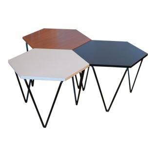 1950s Mid-Century Modern Gio Ponti for Isa Side Tables - Set of 3 For Sale