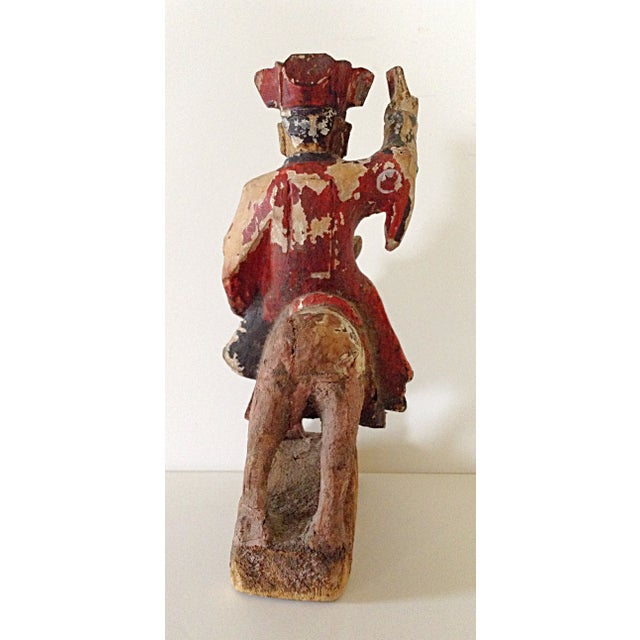 15th C. Chinese Wooden Prayer Figure - Image 4 of 6