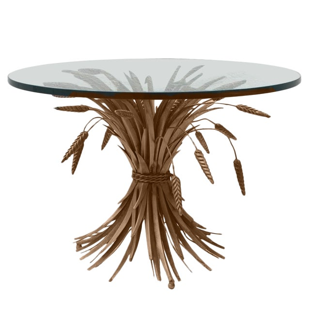 Italian Sheaf of Wheat Cocktail Table For Sale