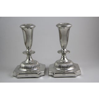 Vintage Empire Pewter Candlestick Holders - A Pair Preview