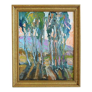 "Juan ""Pepe"" Guzman, California Grove Of Trees Abstract Oil Painting"