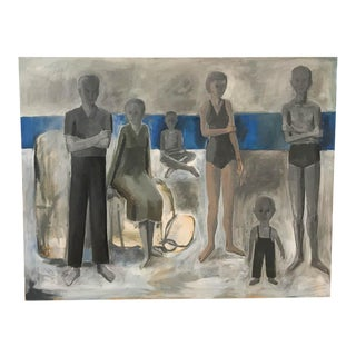 Mid Century Listed Artist Allen Kubach - the Group