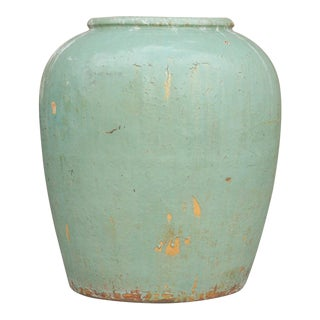 Late 19th Century Celedon Water Jar For Sale