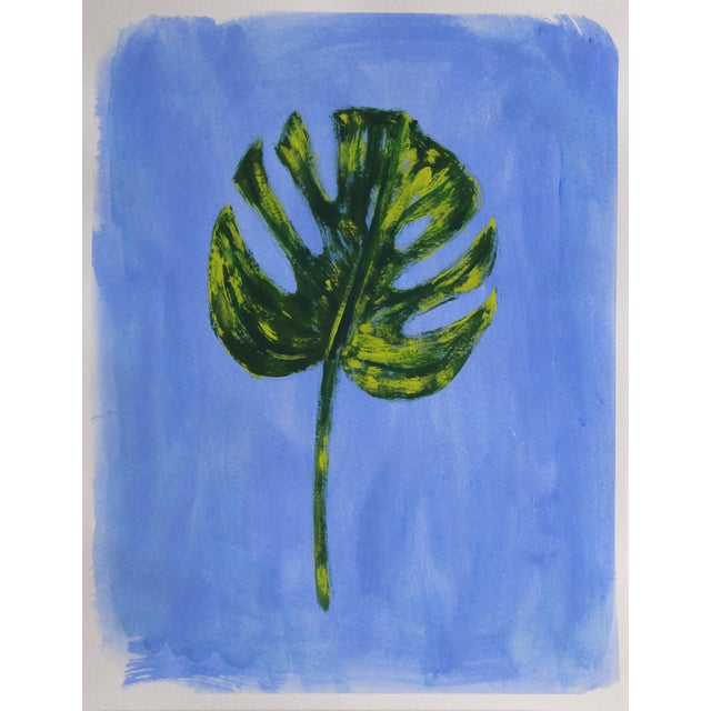 2020s Botanic Contemporary Tropical Leaves Painting by Cleo Plowden For Sale - Image 5 of 9