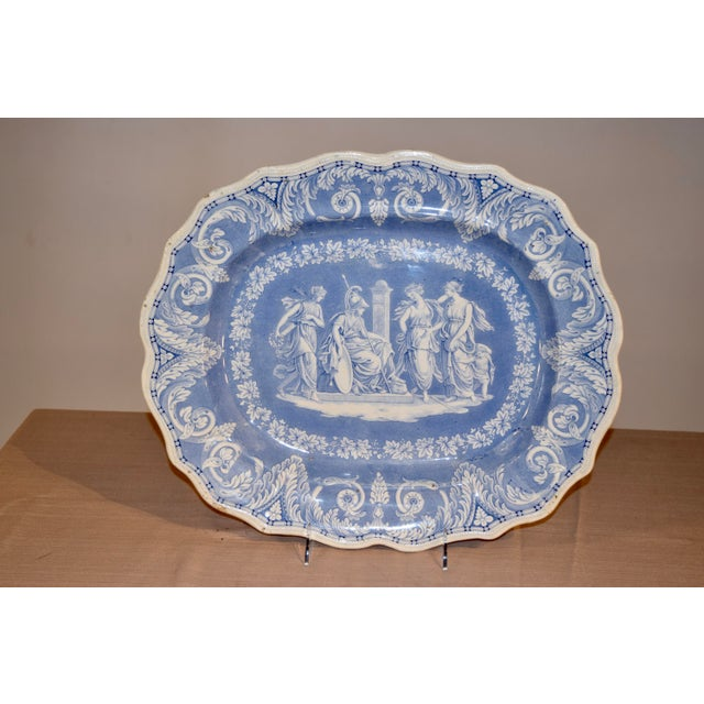 """Platter in the sought-after """"Etruscan"""" pattern by Elkin, Knight and Bridgewood of Staffordshire, circa 1820-1830."""