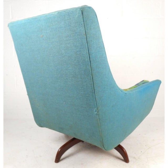 Adrian Pearsall Style Mid-Century Swivel Lounge Chair For Sale - Image 4 of 9