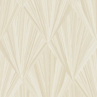 Sample - Schumacher Marquetry Wallpaper in Blonde For Sale