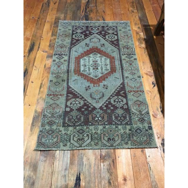 Textile 1980s Vintage Turkish Oushak Rug - 5′6″ × 2′11″ For Sale - Image 7 of 7