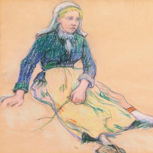 Late 19th Century 'La Ramasseuse De Varech' by Claude Emile Schuffenecker, 1883; Young Bretonne Kelp Gatherer, Paul Gauguin For Sale - Image 5 of 13
