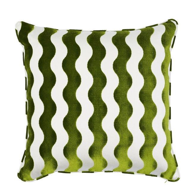 Schumacher Schumacher X Miles Redd the Wave Lettuce Pillow For Sale - Image 4 of 4