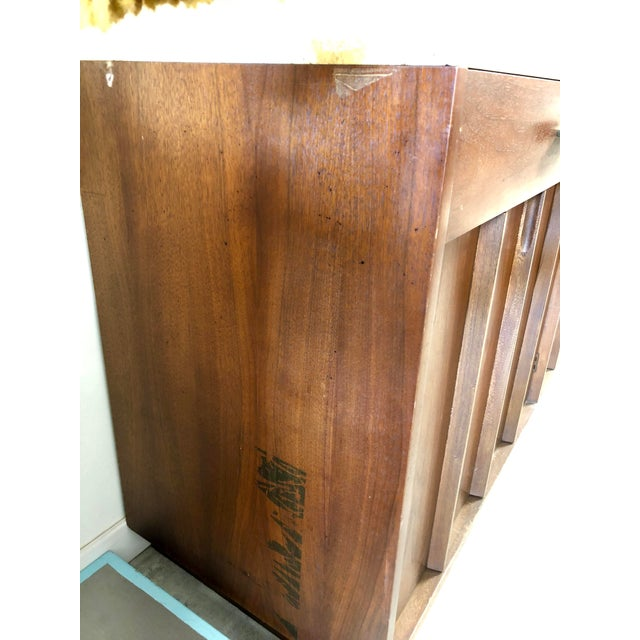 Mid-Century Modern American of Martinsville Italian Soapstone Credenza For Sale In Charleston - Image 6 of 10