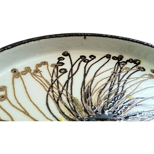 Danish Abstract Flower Dish - Image 3 of 4
