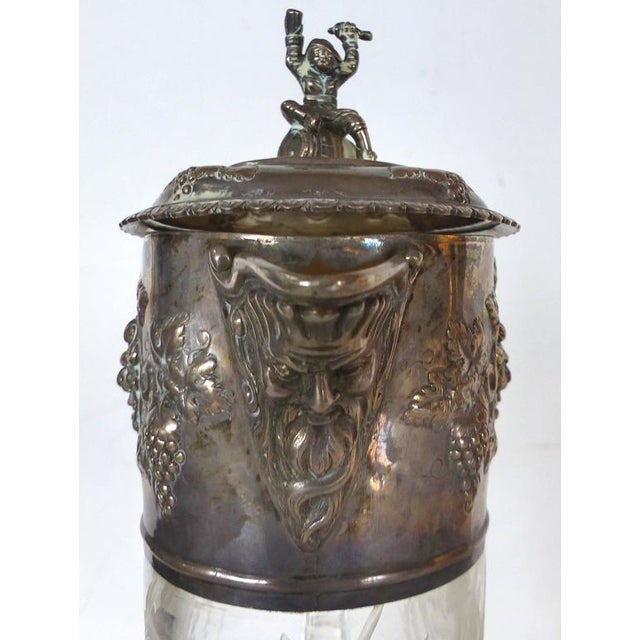 19th Century Sterling Cut and Etched Claret Jug For Sale In Miami - Image 6 of 11