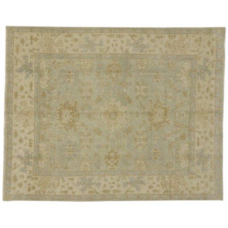 Neutral Color Oushak Style Area Rug - 7′11″ × 9′11″ For Sale