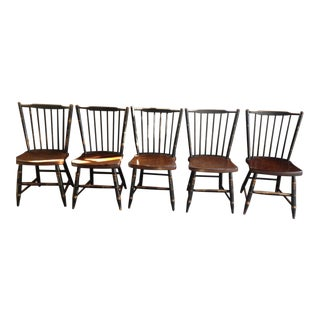 Mid 20th Century Hitchcock Chairs - Set of 5 For Sale