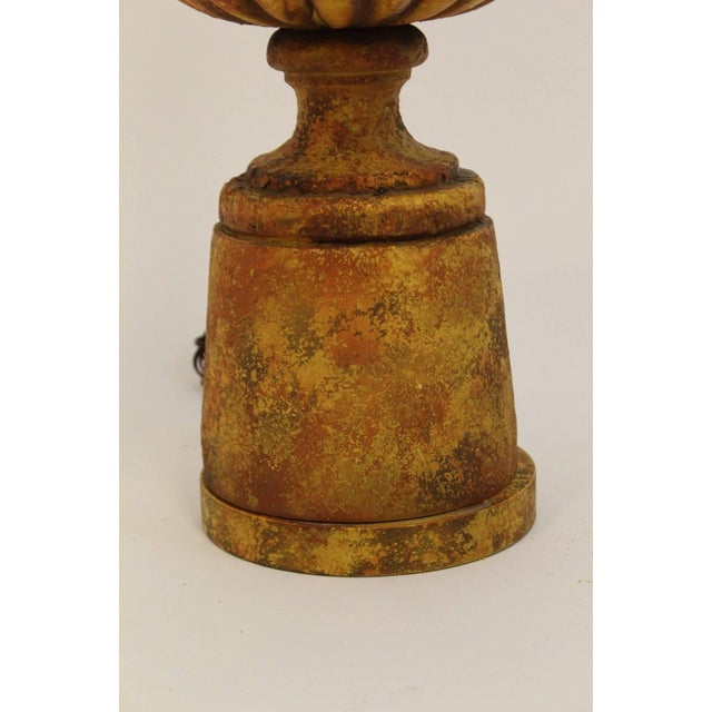 Brown Mid-Century Modern Pair of Michael Taylor for Chapman Gesso Stone Table Lamps For Sale - Image 8 of 11