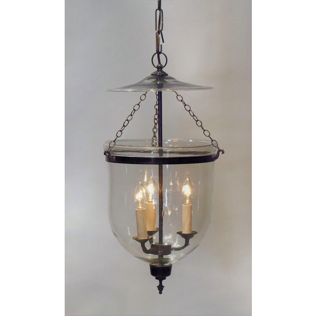 "Electrified 10"" Clear Bell Jar Lantern, Circa:1820, England For Sale - Image 9 of 9"
