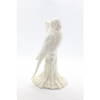 70's Fitz and Floyd Blanc De Chine Fine Porcelain Parrot Candlestick Holder Preview
