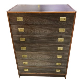 Campaign Wooden Chest of Drawers