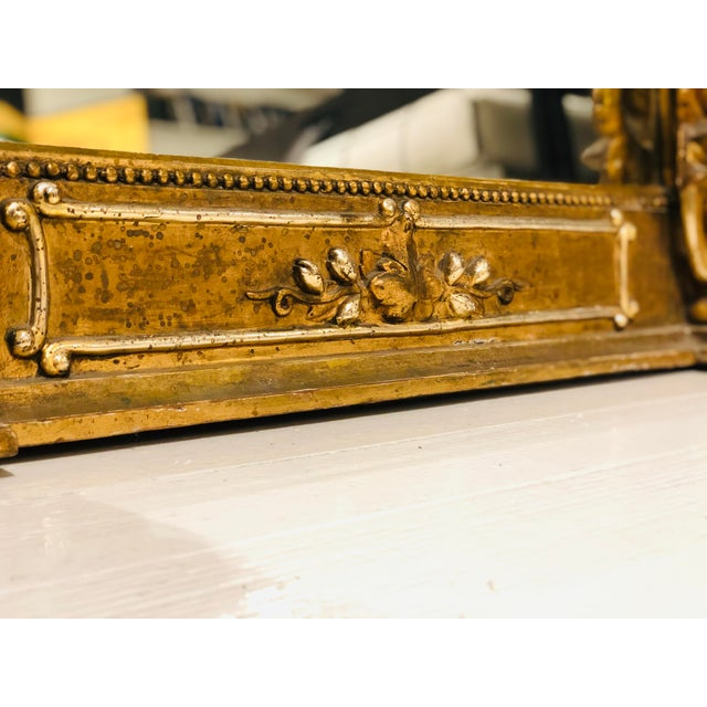 Antique French Gilt Mirror For Sale - Image 9 of 10