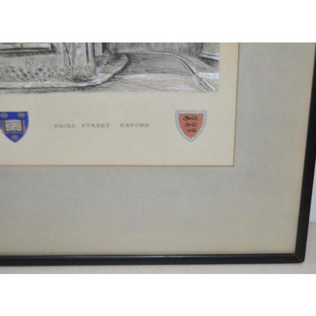 "Blue Oriel Street, Oxford Original Illustration ""Dominus Illuminatio mea"" c.1953 For Sale - Image 8 of 10"