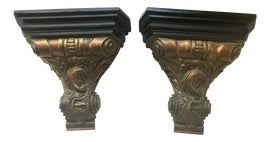 Image of Gold Leaf Decorative Brackets