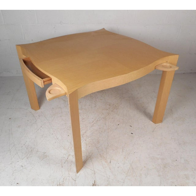 1970s Mid-Century Modern Lacquered Game Table For Sale - Image 5 of 13