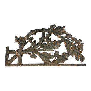Vintage Black Iron Fragment For Sale