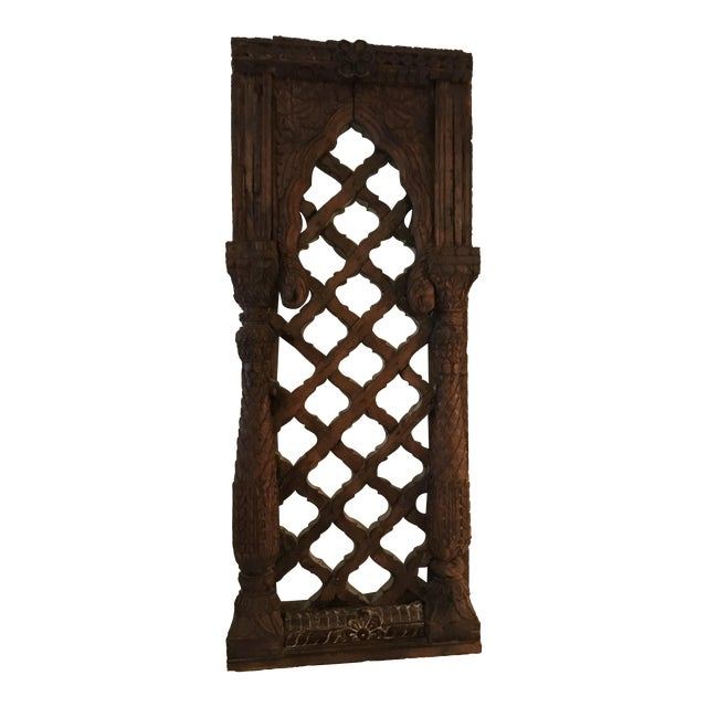 Antique Carved Mahogany Architectural Piece For Sale